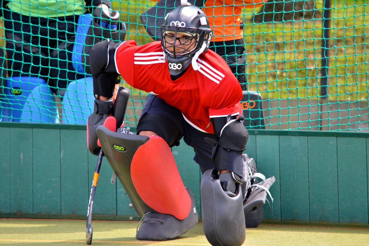 Futures Sports hockey camps integrate goalkeepers into all of their programmes