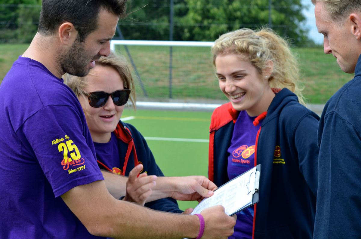 Well planned programmes delivered by talented coaches are a staple at Futures Sports hockey camps
